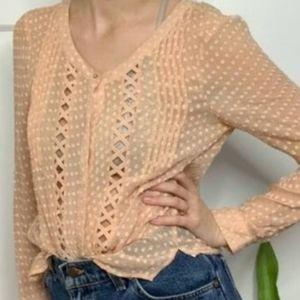 Anthropologie/meadow rue lazer cut blouse